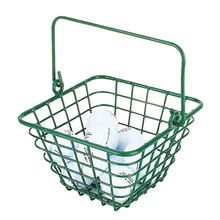Green Small Golf Ball Wire Basket, metal material ball container