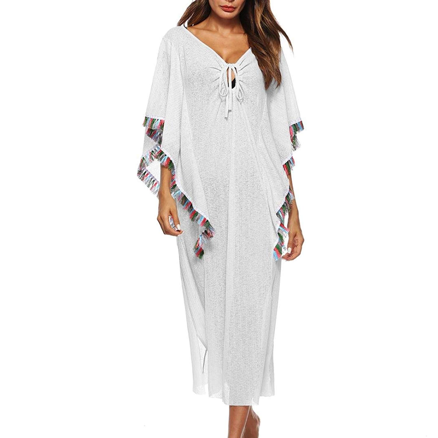 RNTop® Women Smock, Women Bathing Smock Dress Cover up Bikini Swimsuit Swimwear Crochet Smock Beach Cover up