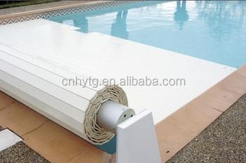 Pvc-lamellen Automatische Indoor/outdoor Schwimmbadabdeckung - Buy  Schwimmbad Drain Abdeckung,Hallenbad Deckt,Elektrische Schwimmbadabdeckung  Product ...