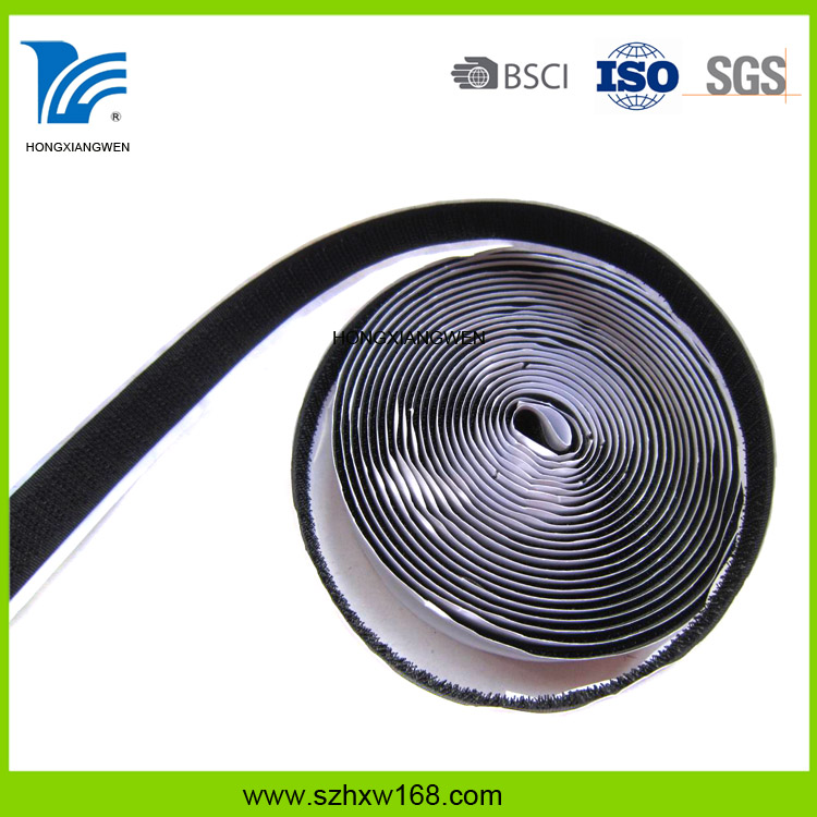 Customized Size Heat Resistant Self-adhesive Nylon Hook and Loop Cable Tie