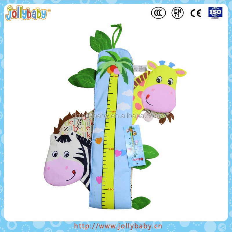 Australian Jollybaby Fabric Animals Character Kids Growth Height Charts With Music Toys