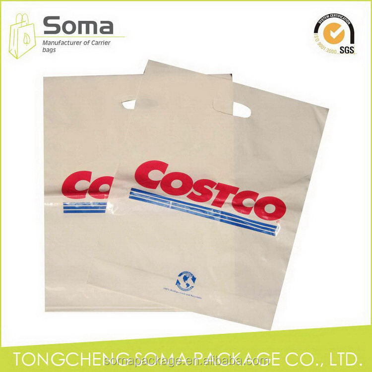 Top grade hot-sale die cut retail plastic bag