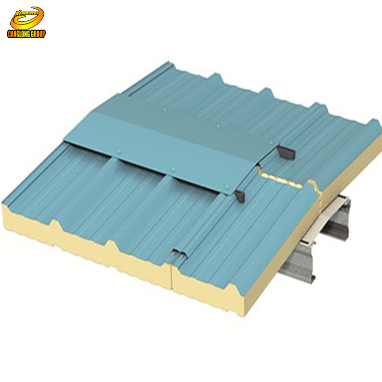 Metal faced Insulated Fireproof polyurethane sandwich <strong>panel</strong> for wall