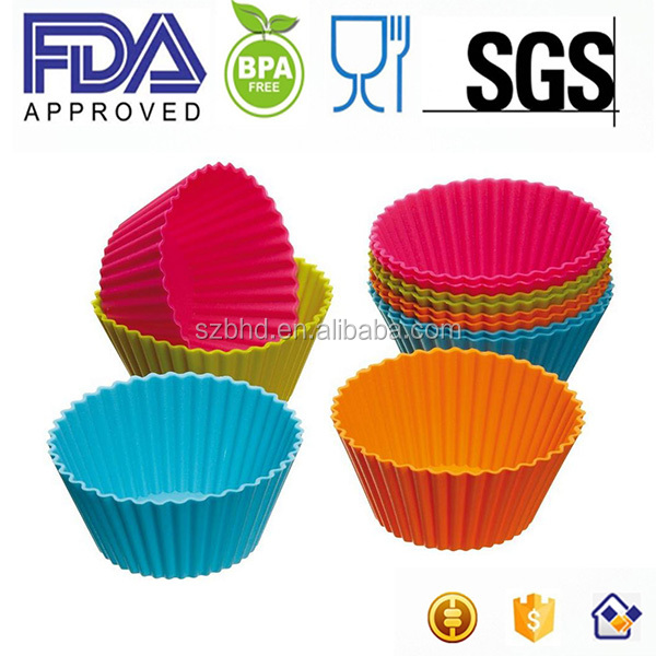 High Quality Mini Silicone Baking Cup Molds,Cake Tools Type and Silicone,100 % food grade silicone Material silicone cupcake