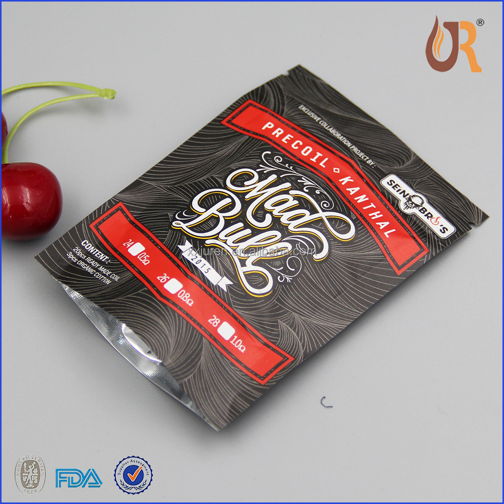 Zip lock plastic packaging bag labels for coffee bags