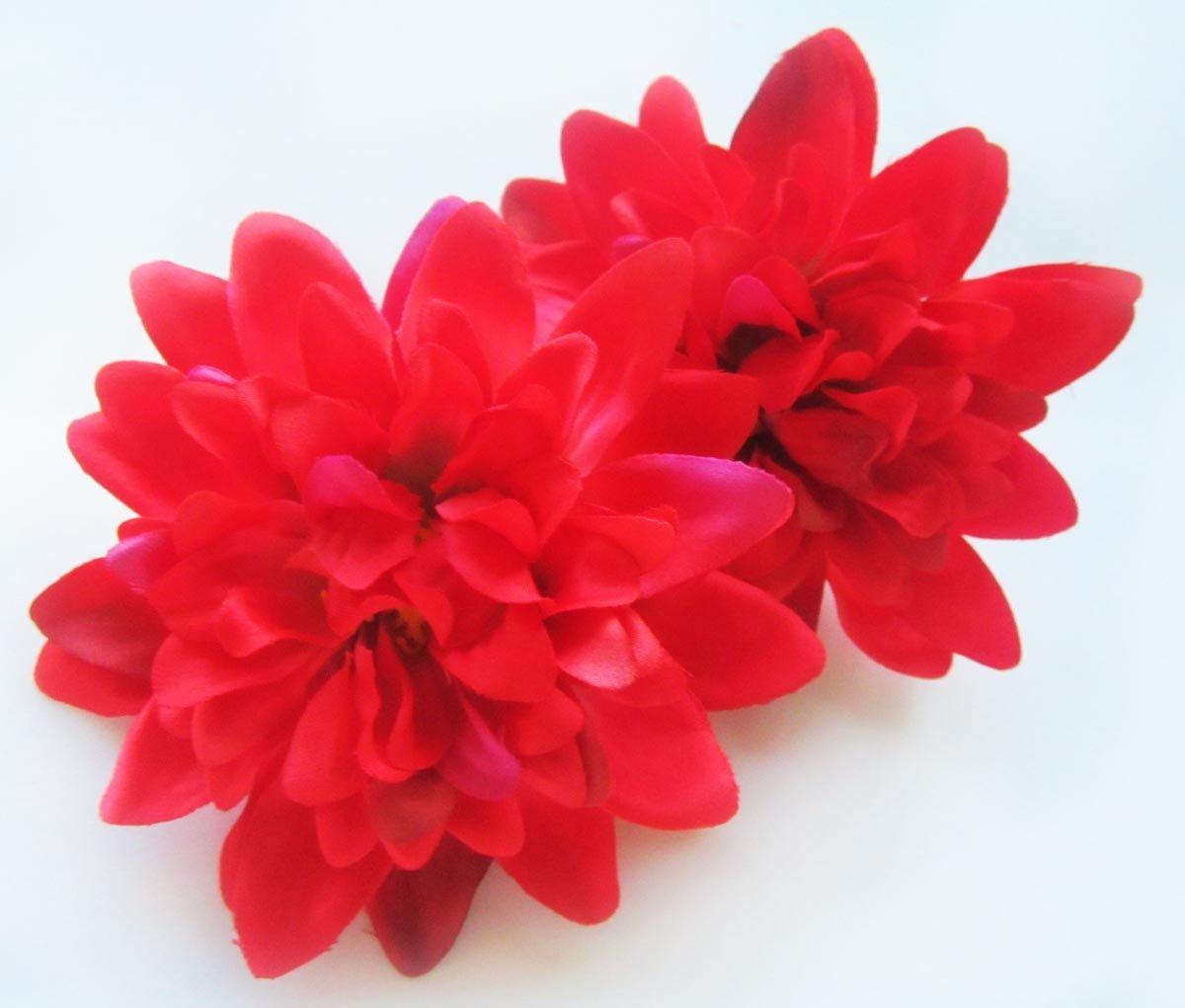 Cheap wholesale dahlia flowers find wholesale dahlia flowers deals get quotations 2 red silk dahlia flower heads 4 artificial flowers dahlias head izmirmasajfo