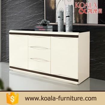 2017 Modern 8mm Glass Top White Mdf Kitchen Cabinet - Buy Kitchen ...