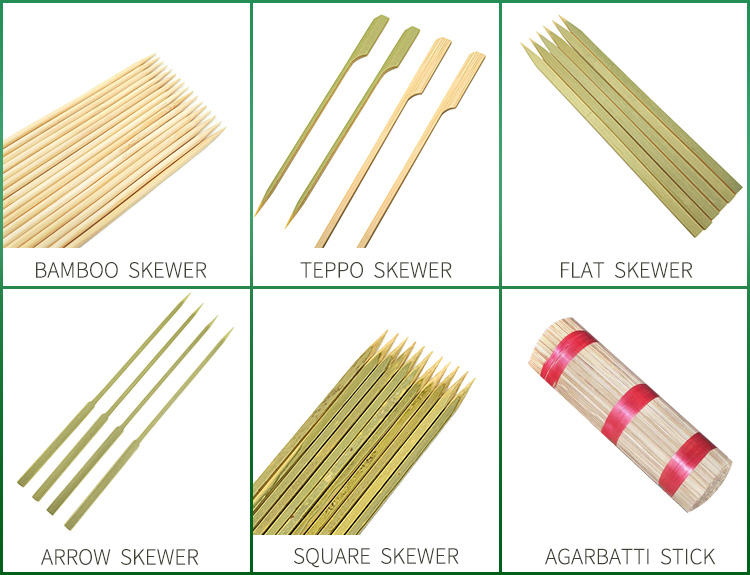 Bamboo square piece flat craft sticks flat bamboo sticks Cheap price