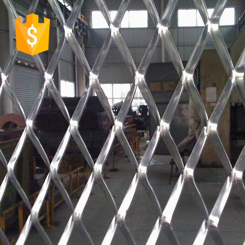 silver wire expanded metal mesh/Industrial carbon steel expanded metal mesh