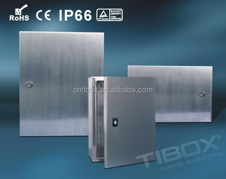 Tibox CeRohsIp66 Aisi 304 Panel Box Electrical Boxes Stainless Steel