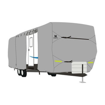 Highly recommended 160G non-woven 6 layer Travel Trailer RV Cover