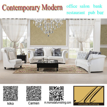 Nd1132 Neoclic Chesterfield Elegant White Leather Crystal On Tuft Antique Living Room Fancy Sofa Home Furniture