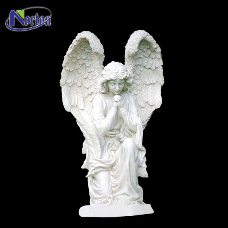 Quality assurance stone prayer angel tombstone cemetery headstone NTMS-346Y