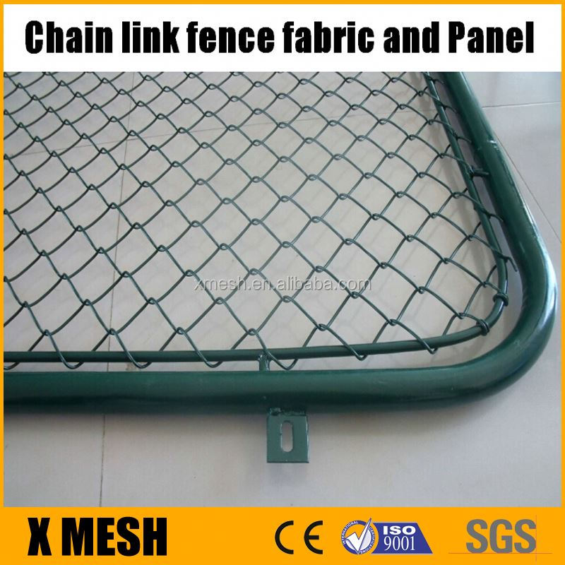 Chain Link Fence Galvanized or PVC Coated Mesh Fence Panel. wire diameter 3.00mm 1.70x2.50M
