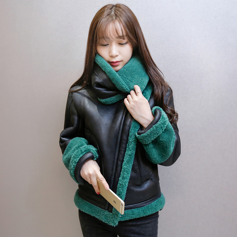 2016 font b Winter b font New Korean Thicken Warm Version Lamb Wool Jacket Women Short