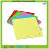 Candy colors heat protection silicon hot food table mat