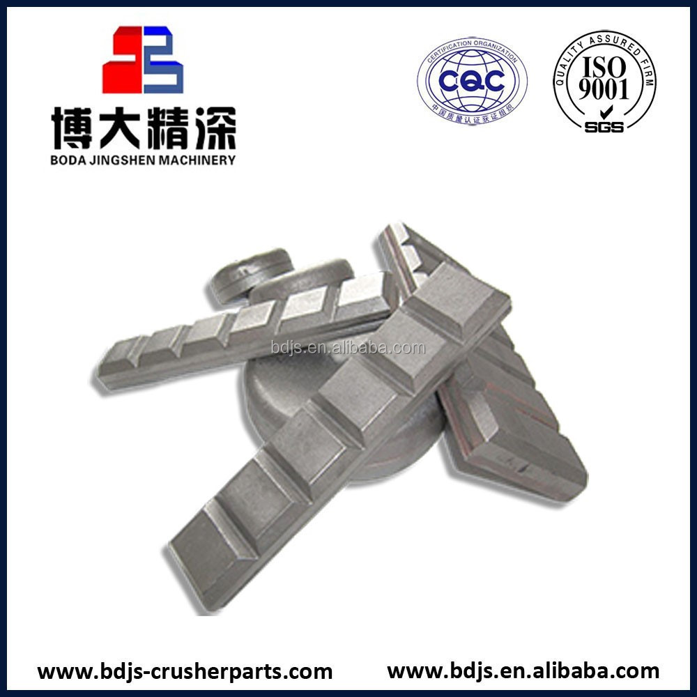 Excavator wearing spare parts white iron chocky bars for sale