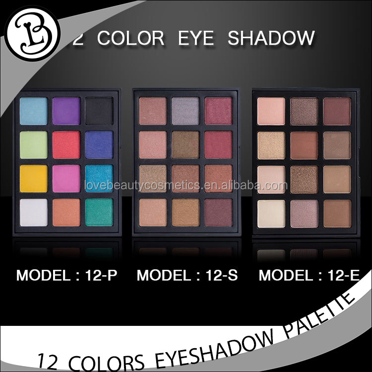 Wholesale colorful makeup palette 12 color cosmetic eyeshadow display