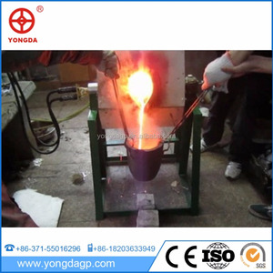 good sale 65KW high frequency steel iron metal alloy scrap induction melting furnace