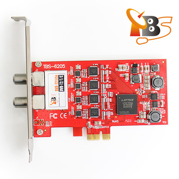 TBS6205 DVB-T2/T/C Quad TV Tuner PCIe Card for Watching UK Freeview SD and  HD Channels, View pci-e dvb-t2 tuner tv card, TBS Product Details from
