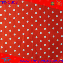 Red White Cotton Satin Drill Spot Printed Fabric For Dress