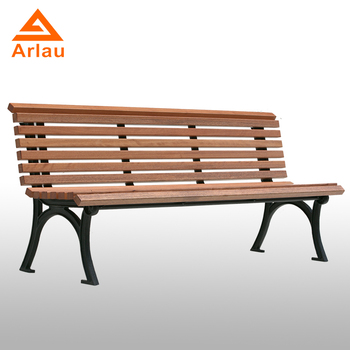 Modern Wood And Metal Bench Outdoor Park Patio Chairs Wooden Garden