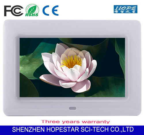 OEM lcd media player 10 inch digital photo frame video / music / picture / clock / calendar