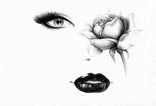 Gambar Lukisan Wajah Abstrak Hitam Putih Cikimm Com