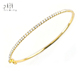 Traditional Ladies Solid Yellow Gold Bangles Designs High Quality Diamond Light Weight Thin Gold Bangles