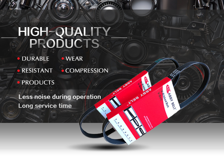 באיכות גבוהה אוטומטי חלקי רכב מאוורר חגורה גודל 4pk 5pk 6pk 7pk גומי v חגורת עבור סופר ספטמבר