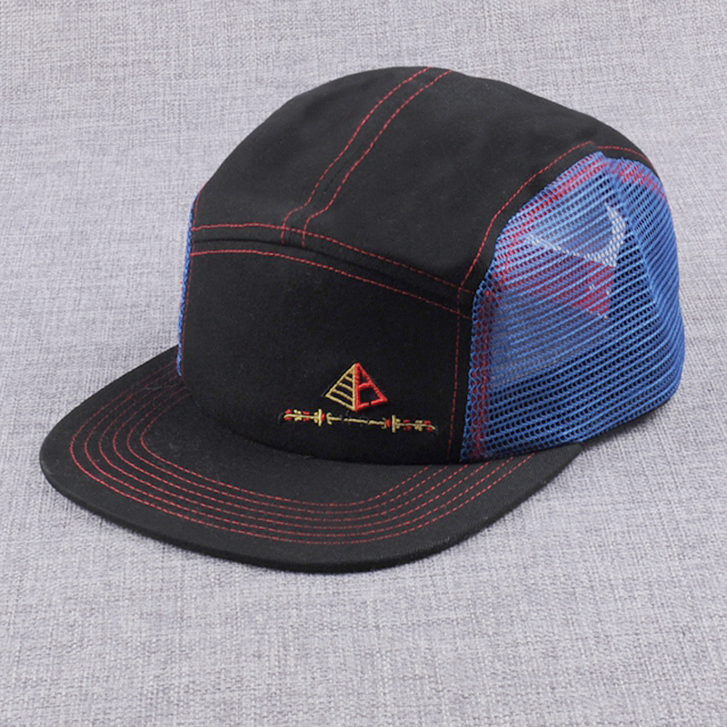 Custom Design Nylon Mesh 5 Panel Hats 27d3f45fa64