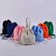 2018 new Fashion canvas Drawstring backpack girls daily school bag traveling lightweight backpack