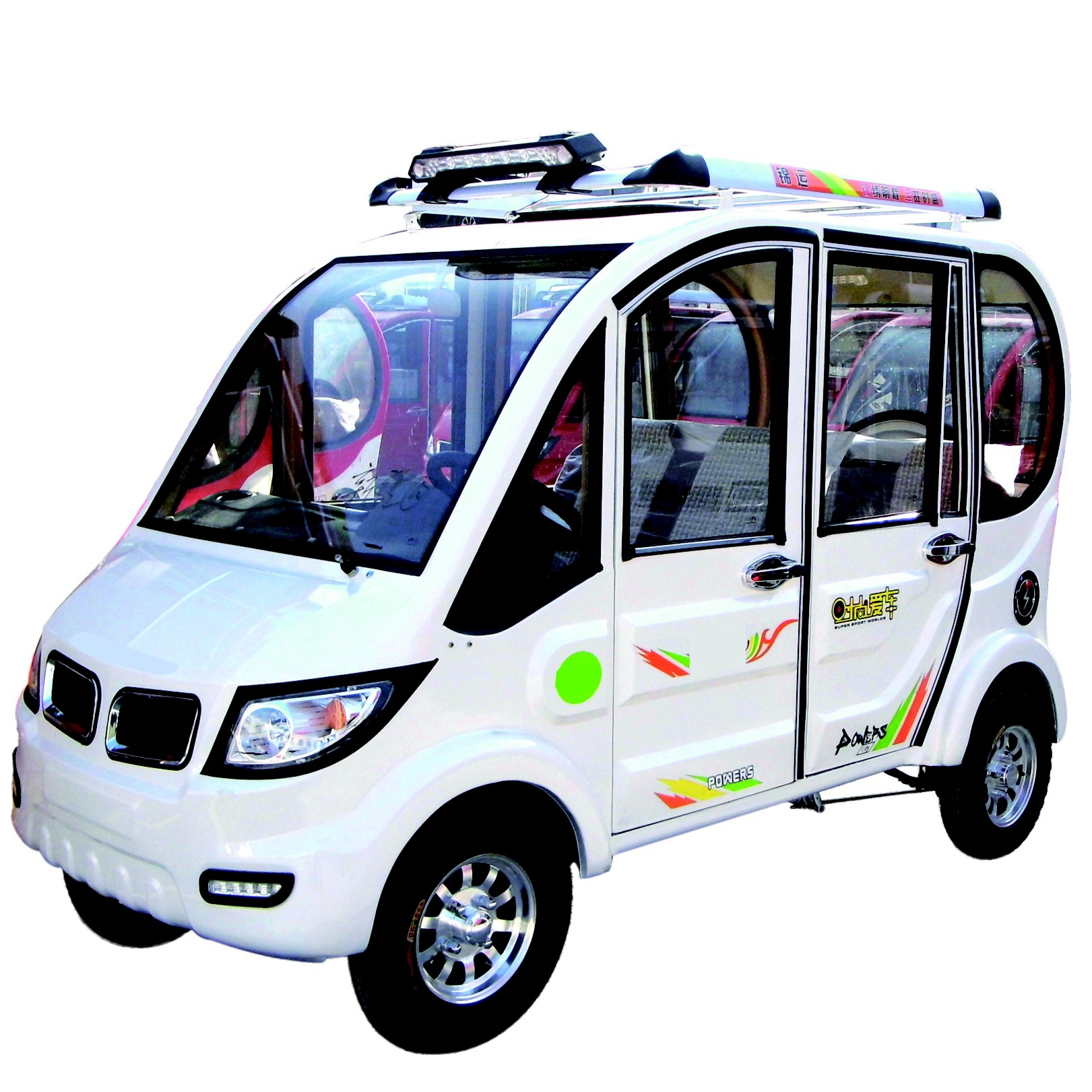 Small electric tourist passenger bus 3 wheeled tricycles rickshaw