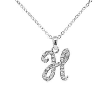 China Jewelry Manufacturer Silver Crystal Initial H Pendant Necklace Unique Birthday Gift For Girlfriend Best Friends