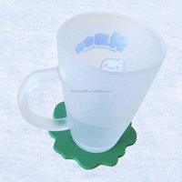 Blank silicone green coaster with glass bottle packing in white box