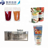 Zip Lock Potato Courier Three Side Seal Sealing BOPP Air Bubble Tea Bag Making Machine