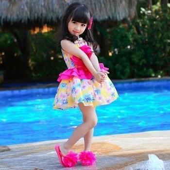 eb6f1575fd1 Best quality Bohemian style beautiful kids tutu dress prom tube dress baby  girl summer dress dress002