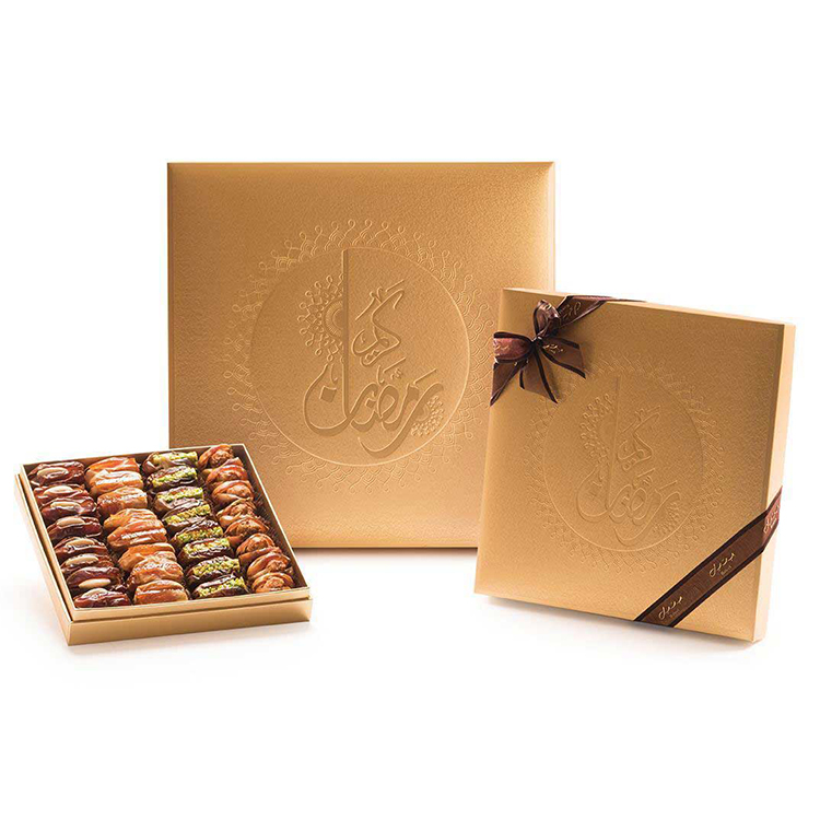 Middle East dates gift paper box with window