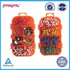BSCI approved china factory assorted 220pcs colorful plastic head push pin