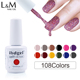 L&M Factory Wholesale ibdgel nail gel polish color 2018 new arrival full color gel polishes