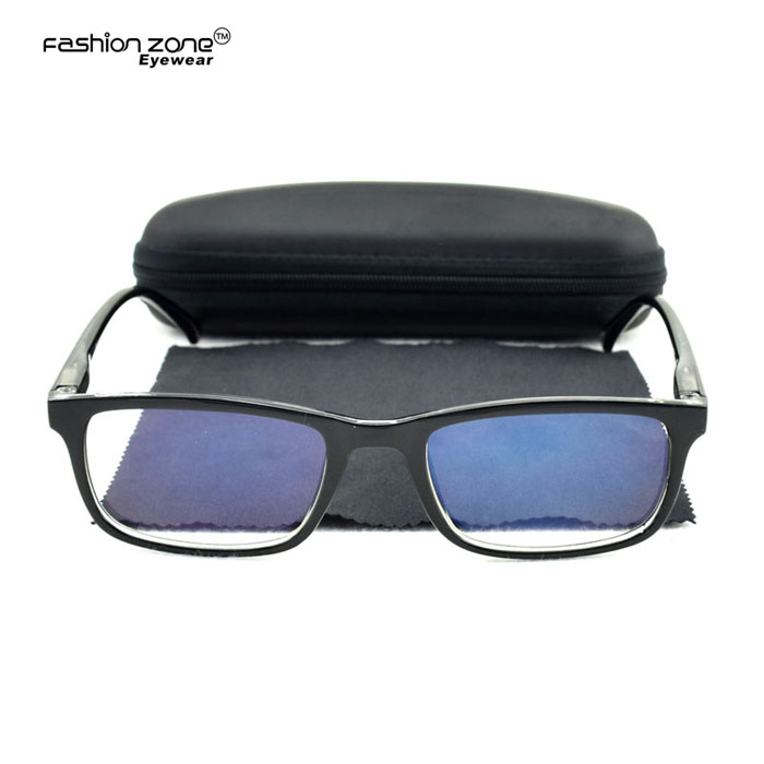 Low MOQ UV400 computer radiation protect reading glasses anti blue light glasses with spring hinge