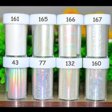 1 pc Prego Foils Starry Sky Glitter Holográfico Papel Autocolante Prego Envolve Folhas de Transferência Da Arte do Prego Acessórios DIY