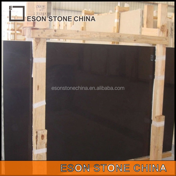 Eson Stone Belgium Black Polished Limestone Tiles Slabs Nero Belgio Flooring