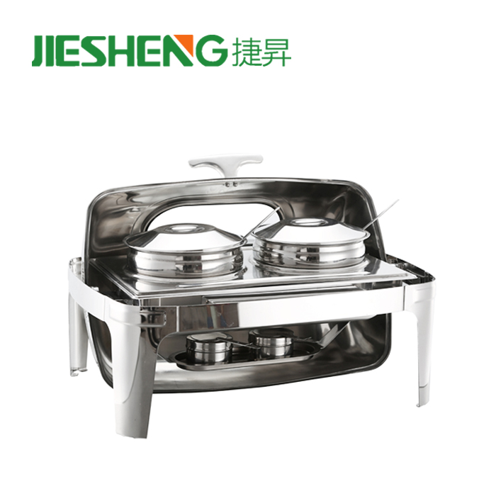 Full Size standard metal buffet accessories chaffing dish with double fuels