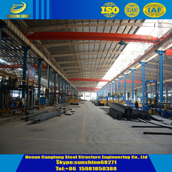 structure building design prefabricated steel workshop with crane