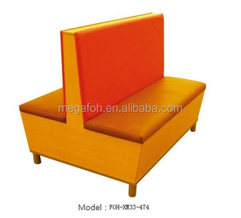 New Style Sofa Design Double Sided Cafe/restaurant Booth Seating(FOH XM33