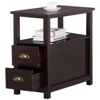 canap troit ct fin table avec 2 tiroir et tagre table de chevet pour - Etagere Table De Nuit