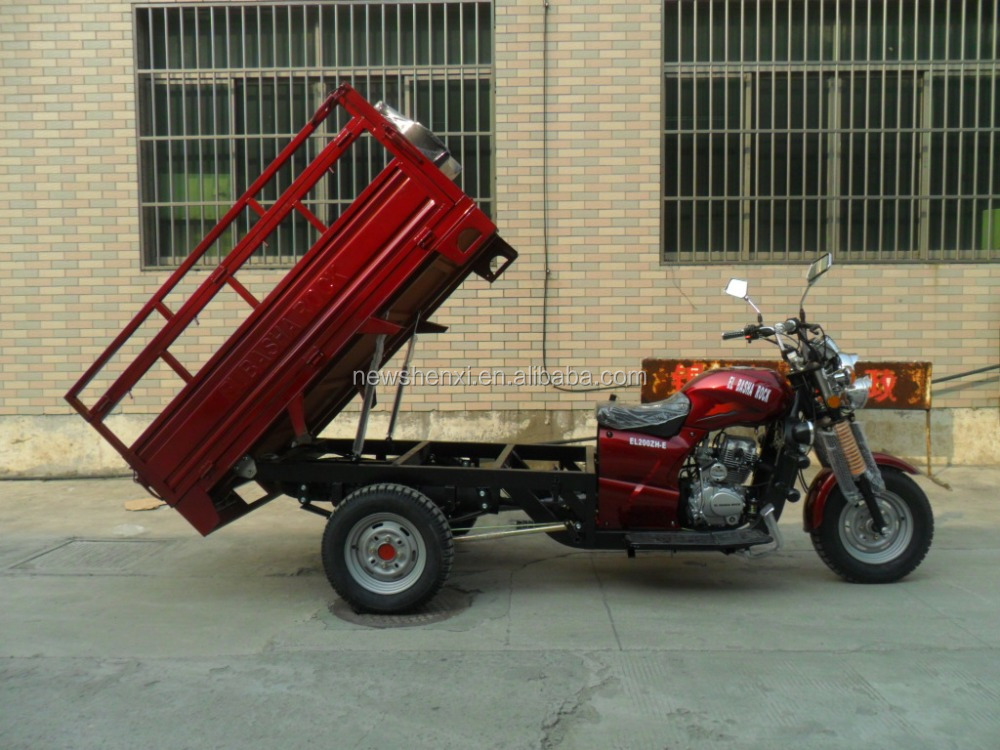 3 Wheels Motorcycle, 3 Wheels Tricycle use for cargo Double Railing