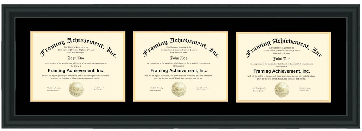 Buy Engraved Horizontal Double Document Certificate Frame ...