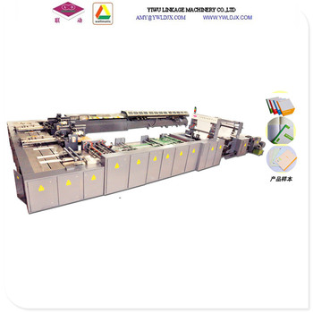 Plastic Book Cover Making Machine - Buy Plastic Book Cover Making  Machine,Tape Glued Exercise Book Production Line,Paper Notebook Making  Machine